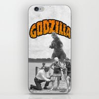 godzilla iPhone & iPod Skins featuring godzilla  by sr casetin
