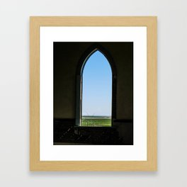 Milk River Valley Church, Hill County, Montana Framed Art Print