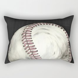 Vintage Baseball Art Rectangular Pillow