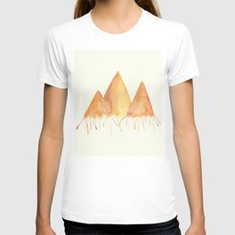 Dripping Watercolor Mountains T-shirt