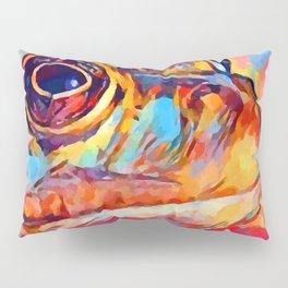 Frog Watercolor Pillow Sham