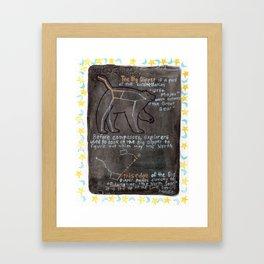 Big Dipper and Ursa Major Framed Art Print