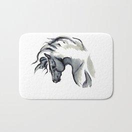 Gray Horse in ink Bath Mat