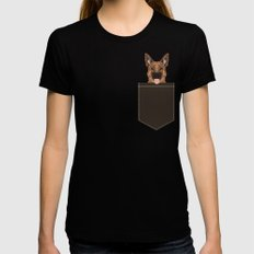 Skylar - German Shepherd gifts for dog people dog lover gifts german shepherd owners perfect gifts  SMALL Womens Fitted Tee Black