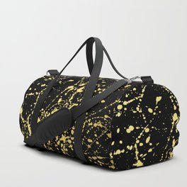 Splat Gold on Black Duffle Bag