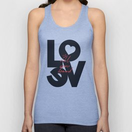 Love is all you need illustration, Valentine's Day, romantic gift for her, wedding day, romance Unisex Tank Top