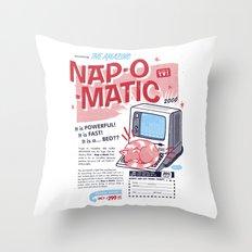 Nap-o-Matic Throw Pillow
