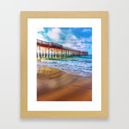 Waves on the Sand  Framed Art Print
