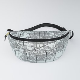 Sioux Falls SD USA White City Map Fanny Pack