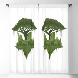 Urban Nature | Forest Tree Life City Blackout Curtain