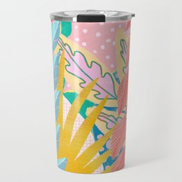 Modern Jungle Plants - Bright Pastels Travel Mug