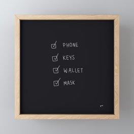 Phone Keys Wallet Mask Framed Mini Art Print