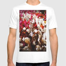 Paper flowers Mens Fitted Tee White MEDIUM