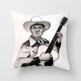 Gene Autry Throw Pillow