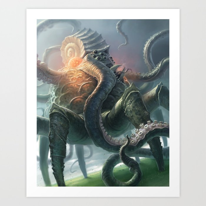 Creature from the Abyss Art Print