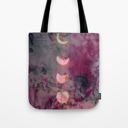 Lunar phase color Tote Bag