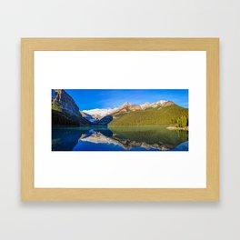 Lake Louise panorama, Canada. Framed Art Print