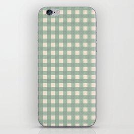 Buffalo Checks Plaid in Sage Green on Cream iPhone Skin