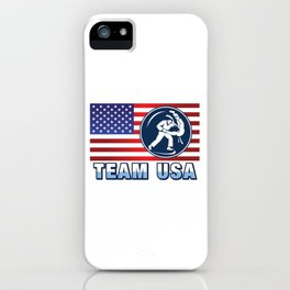 Team USA Judo Fighter American Flag Martial Arts Japanese Sports Gift Design iPhone Case
