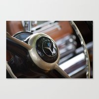 mercedes Canvas Prints featuring Vintage Mercedes Benz by Ed Doherty Jr