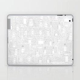 Montreal roofs black on white Laptop & iPad Skin