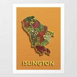 Islington - London Borough - Colour Art Print