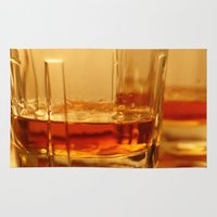 whiskey Area & Throw Rugs featuring Whiskey by Vishal Wadhwani