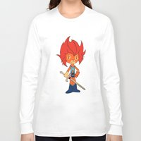 thundercats Long Sleeve T-shirts featuring Lion-o by Christophe Chiozzi