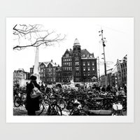 bicycles Art Prints featuring Bicycles by Francesca Vincis