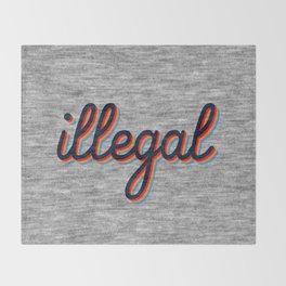 Illegal Throw Blanket