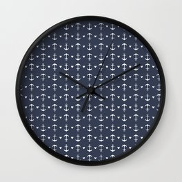 Anchors Mouse Ears Wall Clock