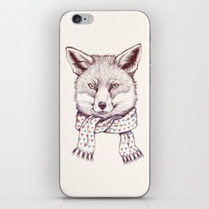 Fox and scarf iPhone & iPod Skin