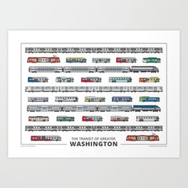 The Transit of Greater Washington (small) Art Print