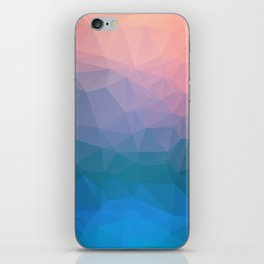 Abstract colorful triangles background iPhone Skin
