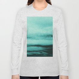 Mint-Green Ocean Vibes #1 #decor #art #society6 Long Sleeve T-shirt