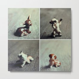 Tiny Menagerie Metal Print