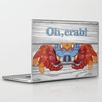 crab Laptop & iPad Skins featuring Oh, Crab! by ArtLovePassion