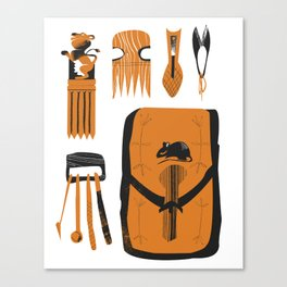 Grooming kit Canvas Print