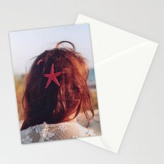 seaside girl Stationery Cards