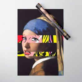 Vermeer's Girl with a Pearl Earring & Lichtenstein's Girl with a Hair Ribbon Wrapping Paper