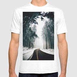 Winding Winter Roads T-shirt