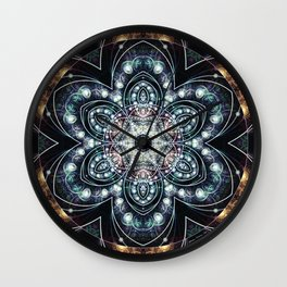 Mandalas from the Voice of Eternity 4 Wall Clock