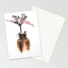Ink well with flower Stationery Cards