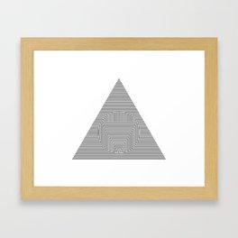 Triangle Circle Triangle Framed Art Print