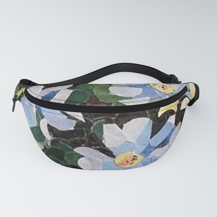 """ Blue Flowers Hole Punch "" Fanny Pack"