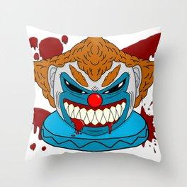 Terror Clown Throw Pillow
