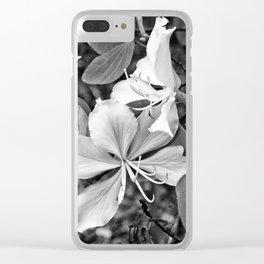 Beautiful butterfly tree flower Clear iPhone Case