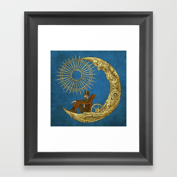 Moon Travel (Colour Option) Framed Art Print