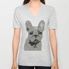 Frenchie Bulldog Puppy Unisex V-Neck