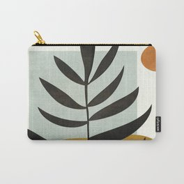 Soft Abstract Large Leaf Carry-All Pouch